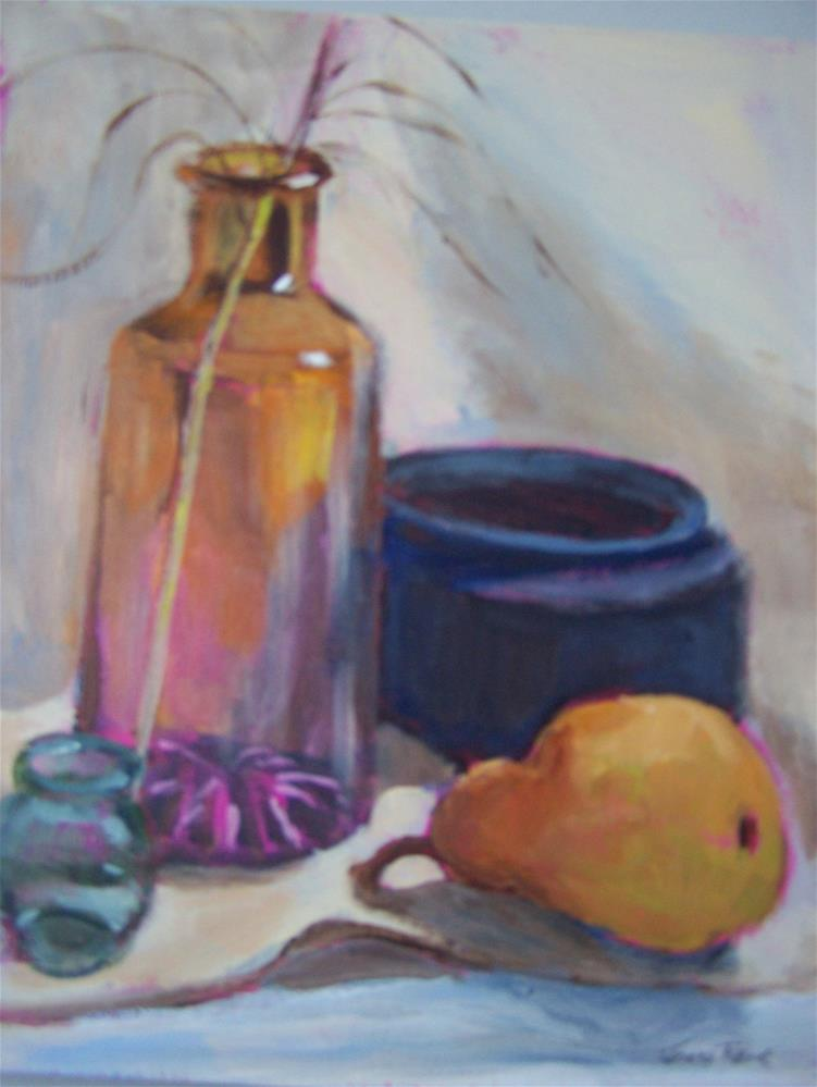 """Still Life with Pear"" original fine art by Joan Reive"