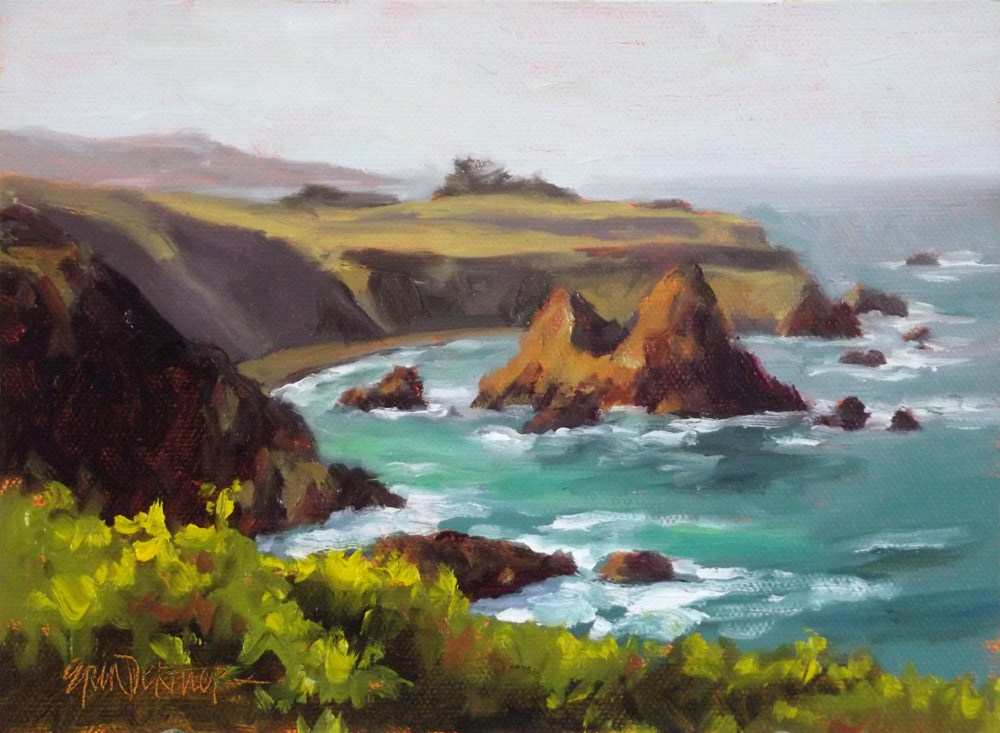 """Captivating Cove"" original fine art by Erin Dertner"