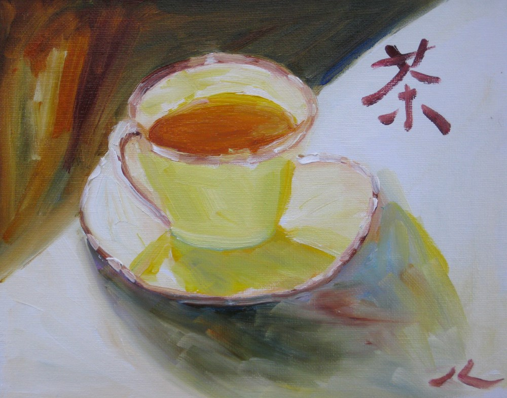 """Teacup"" original fine art by Julia Lu"