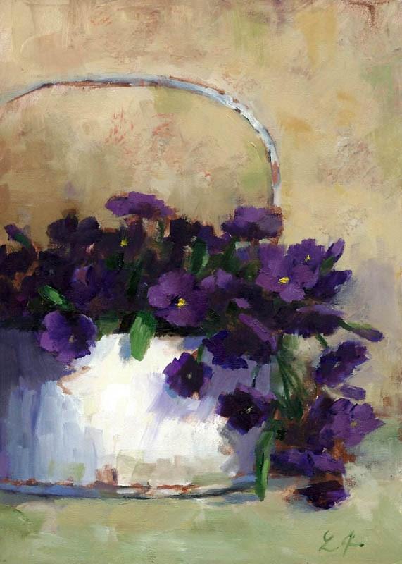 """Country Purple"" original fine art by Linda Jacobus"