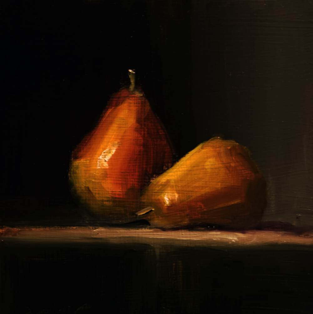 """Pears"" original fine art by Neil Carroll"