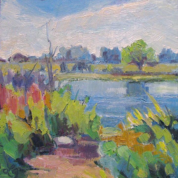 """Waterscape"" original fine art by Laura Gable"