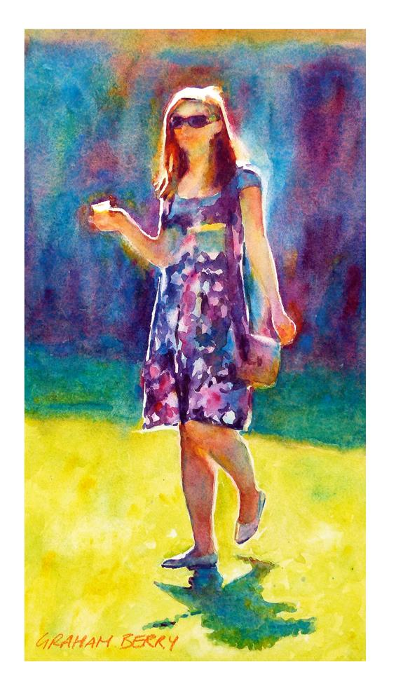 """Summer girl"" original fine art by Graham Berry"