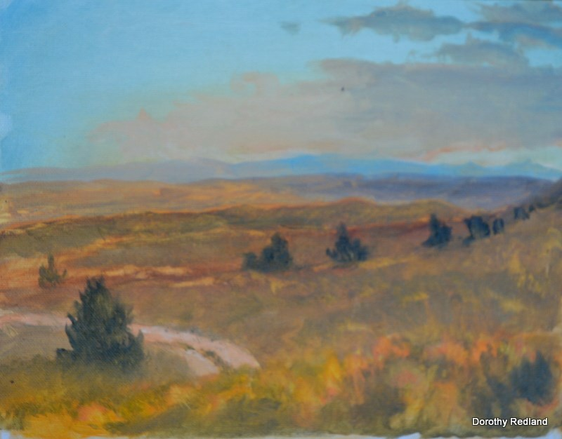 """Evening on the edge of the Red desewt"" original fine art by Dorothy Redland"