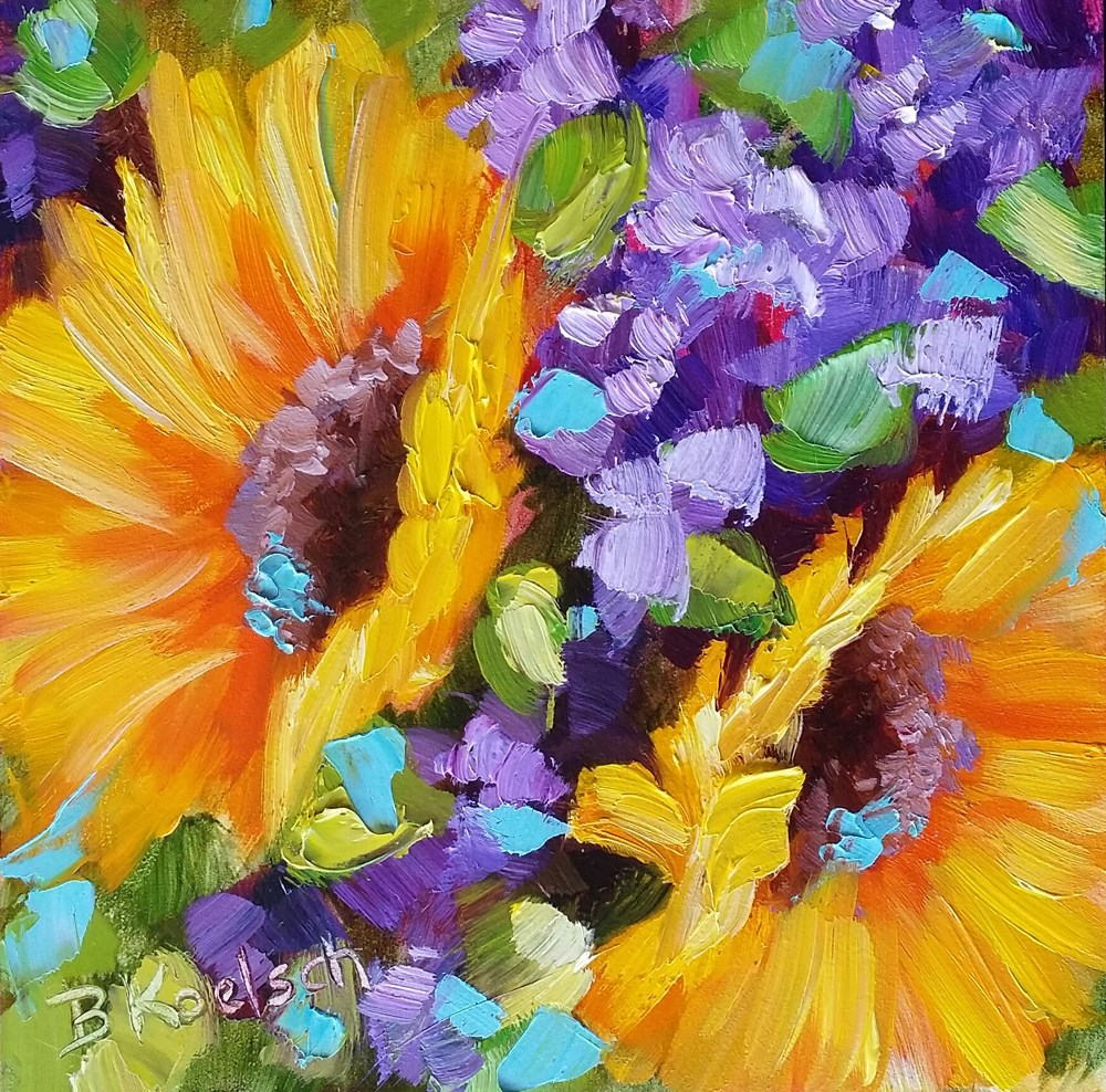 """Spring Sunshine"" original fine art by Bobbie Koelsch"
