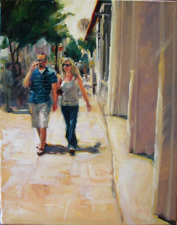 """Sunny Stroll"" original fine art by Robin Cheers"