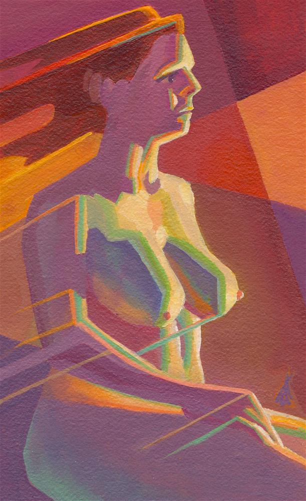 """DJ at Lightspeed"" original fine art by Mark Allison"