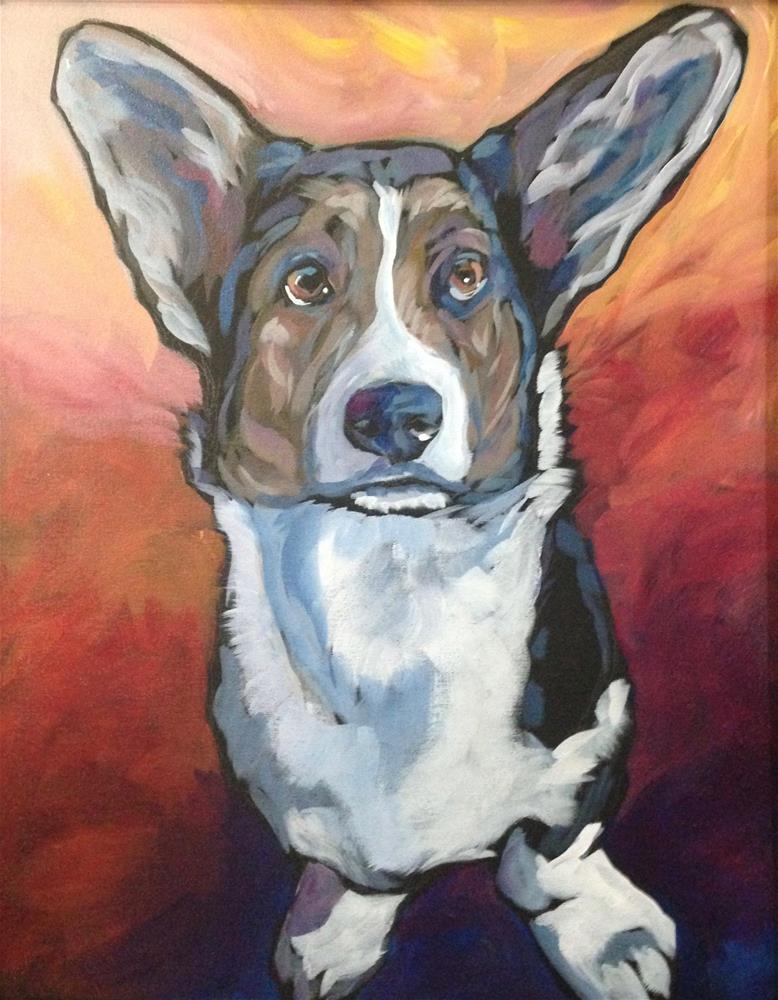 """At Attention"" original fine art by Kat Corrigan"