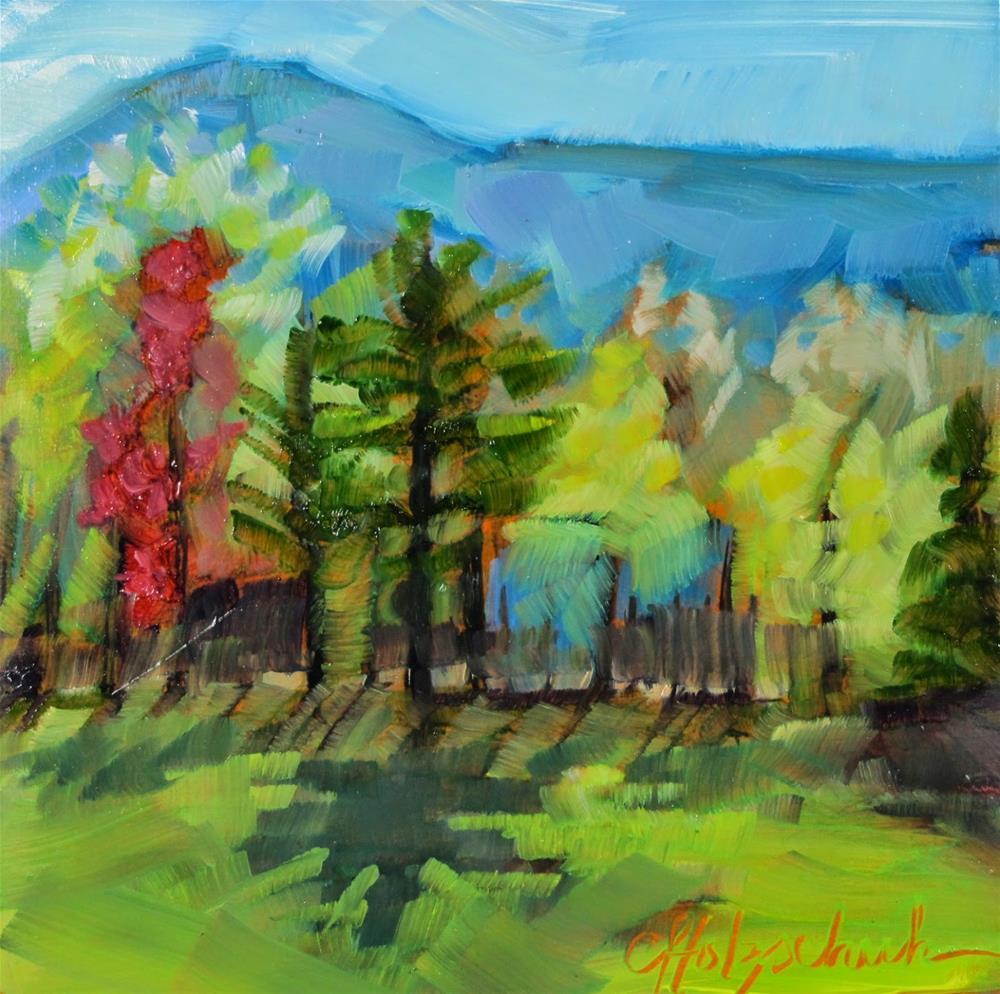 """My View"" original fine art by Christine Holzschuh"