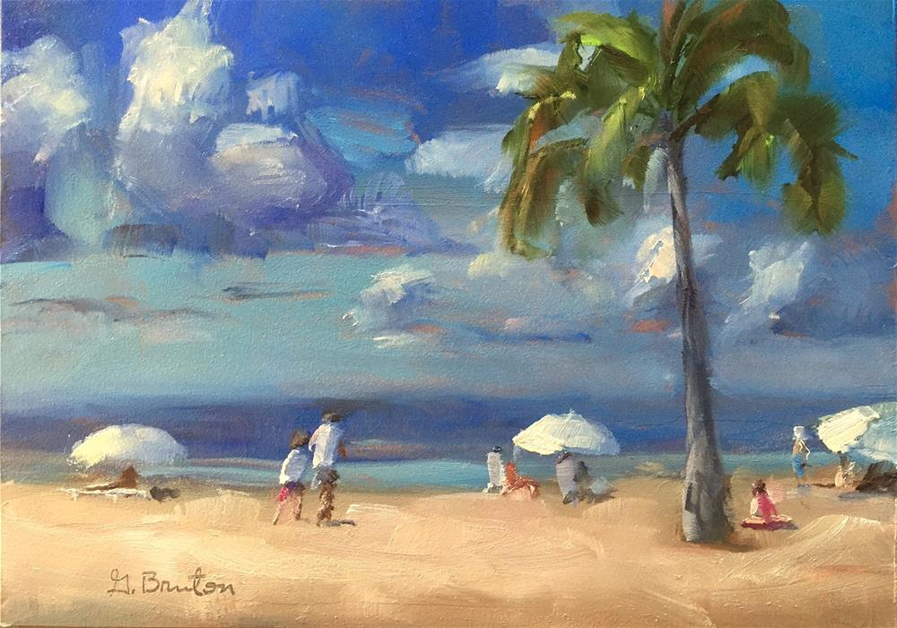 """Three Umbrellas"" original fine art by Gary Bruton"
