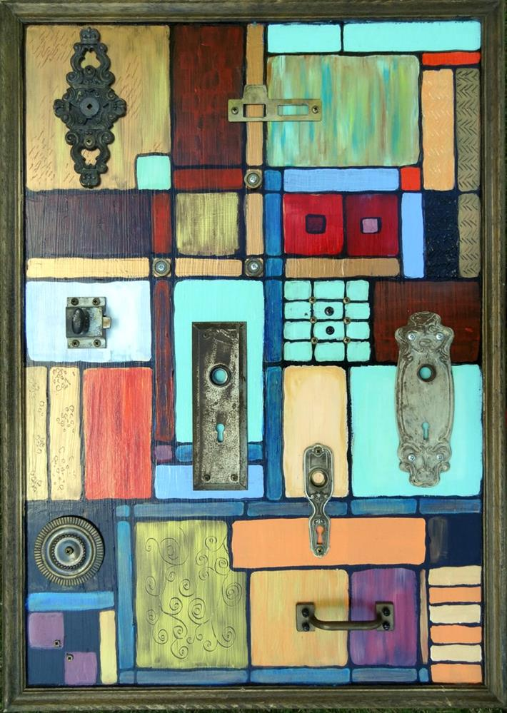 """THIS OLD BAUHAUS 2"" original fine art by Ande Hall"