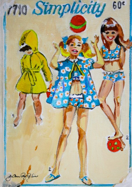"""Vintage Summer Girls"" original fine art by JoAnne Perez Robinson"