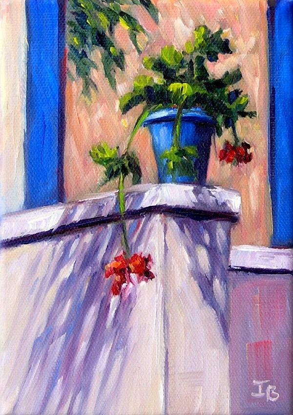 """Colors of Greece"" original fine art by Irina Beskina"