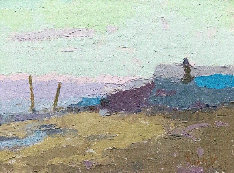 """At the Seashore"" original fine art by Randall Cogburn"