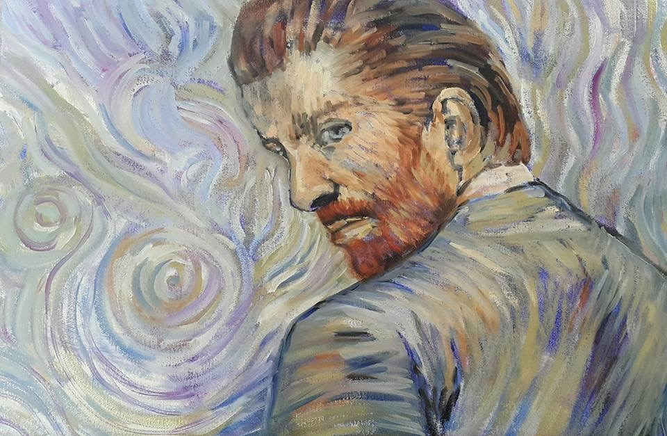 """My take on Van Gogh"" original fine art by Rentia Coetzee"