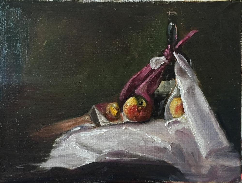 """Honey Crisp and Spatula"" original fine art by Rick Blankenship"