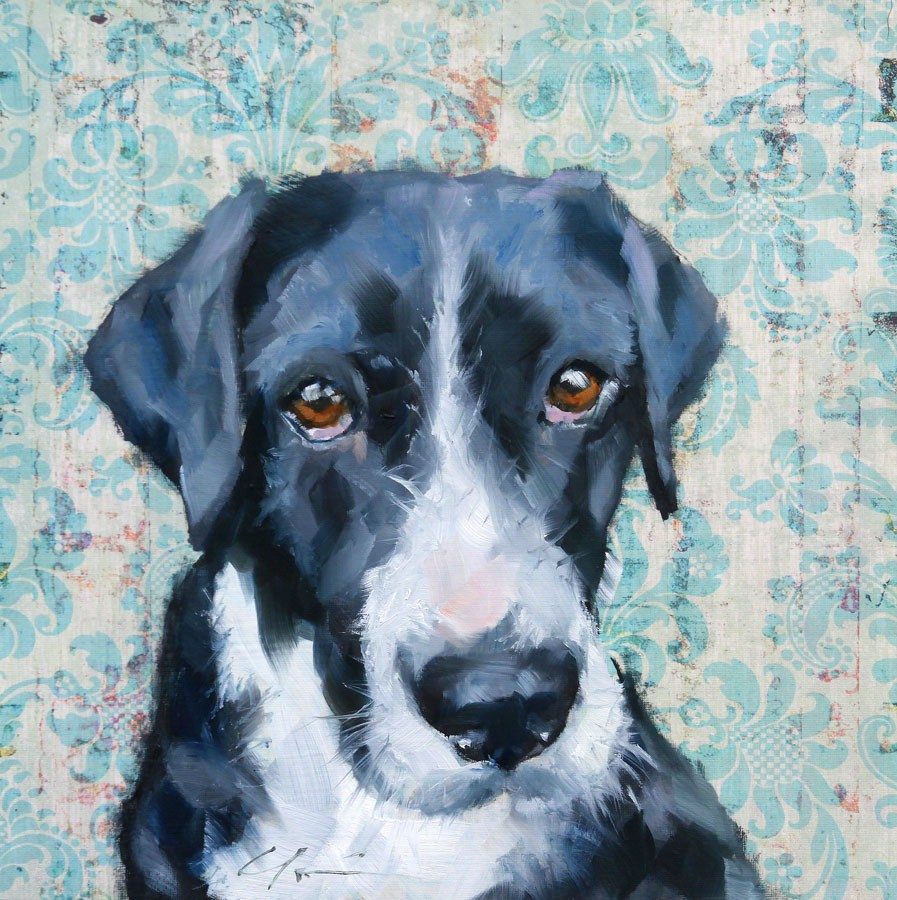 """Oreo"" original fine art by Clair Hartmann"