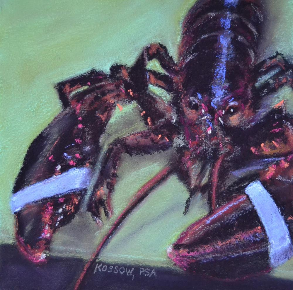 """That Lobster Painting"" original fine art by Cristine Kossow"