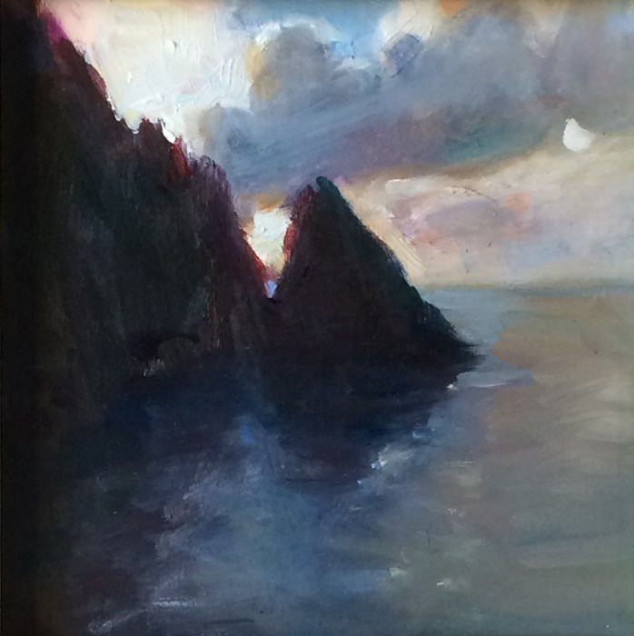 """Tortola Sunset"" original fine art by Sharon Savitz"