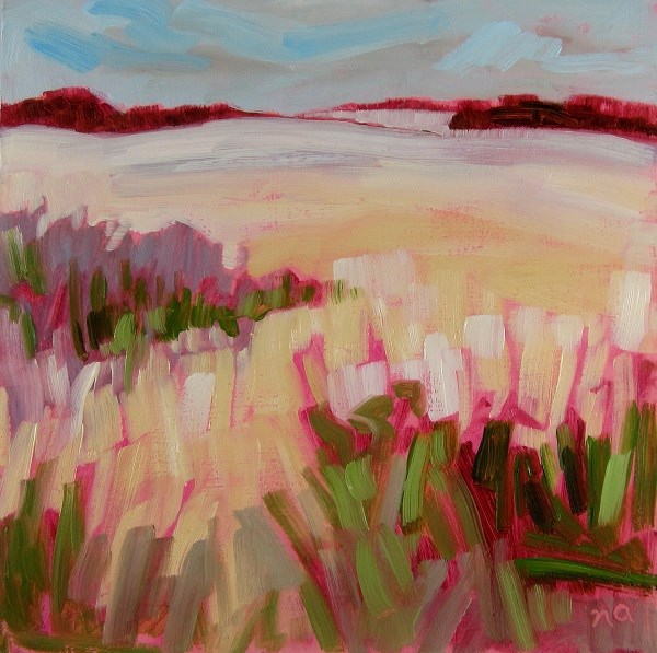 """Meet Spring"" original fine art by Nicki Ault"
