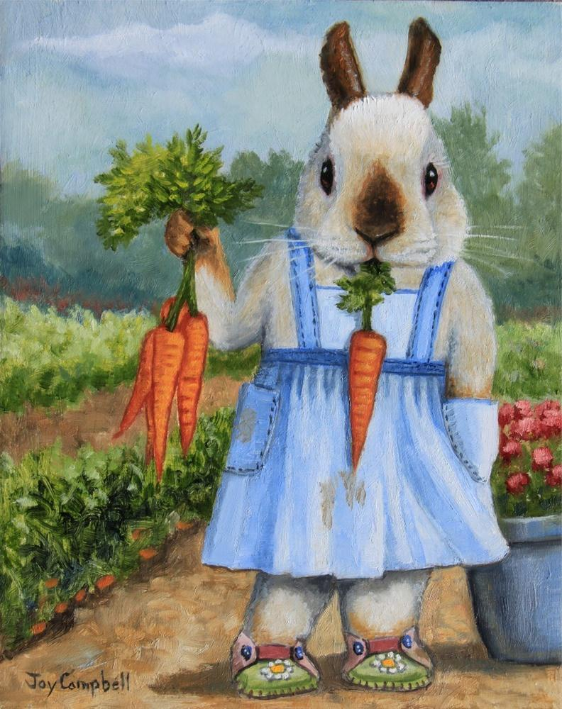 """Happy Farmer"" original fine art by Joy Campbell"