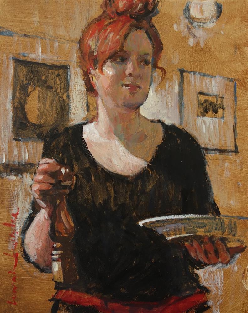 """""""The Waitress"""" original fine art by Lorraine Lewitzka"""