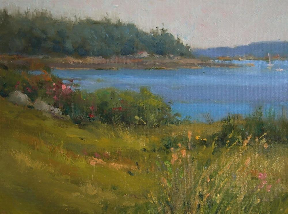 """bath Maine"" original fine art by Howard Rose"