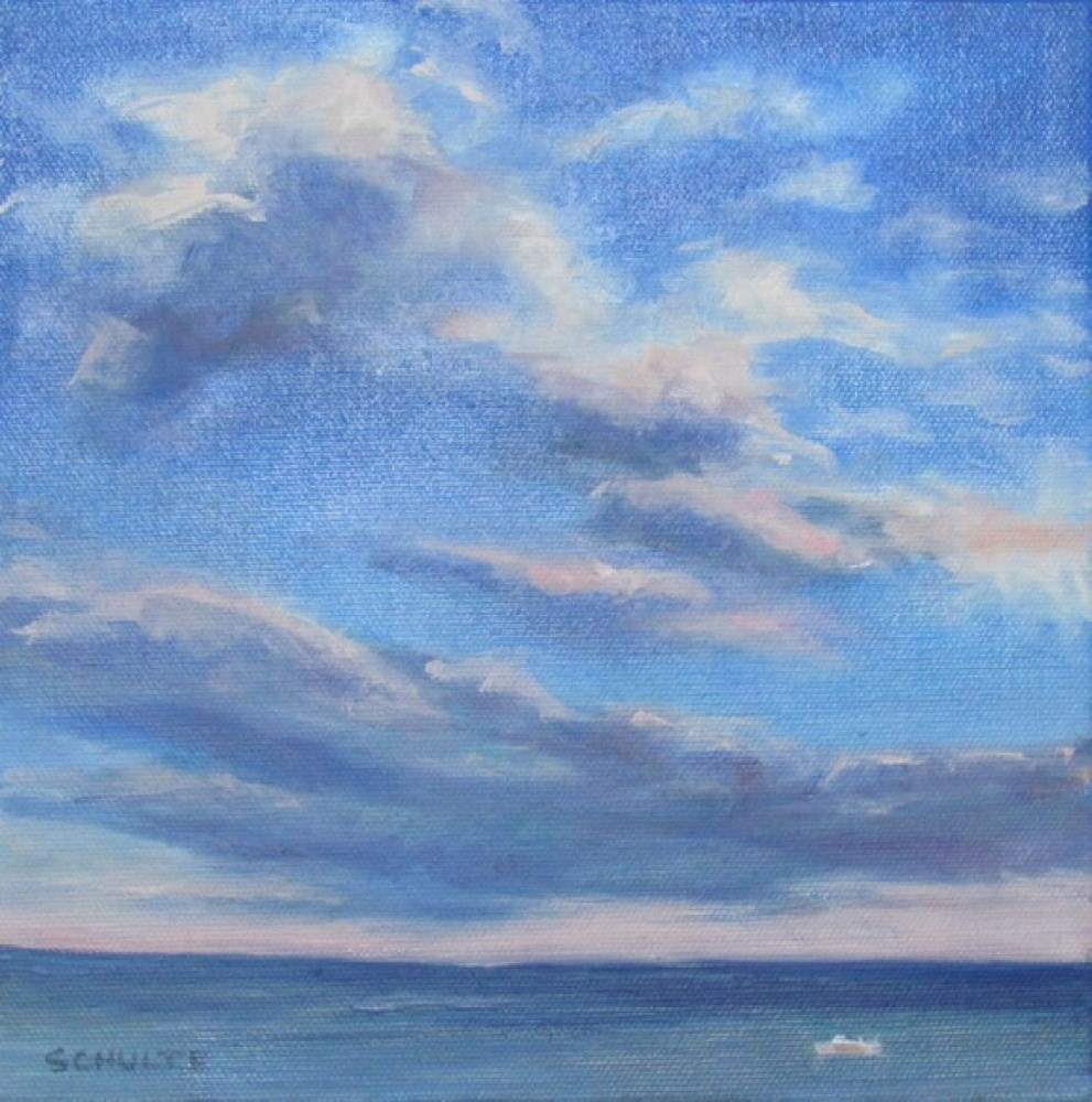 """Framed Blue Skies"" original fine art by Lynne Schulte"