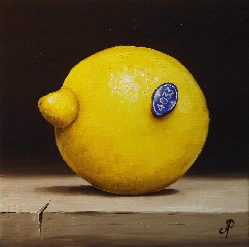 """Lemon"" original fine art by Jane Palmer"