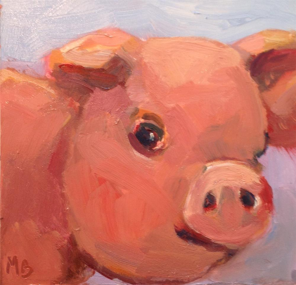 """This Little Piggy"" original fine art by Marcia Bergtholdt"