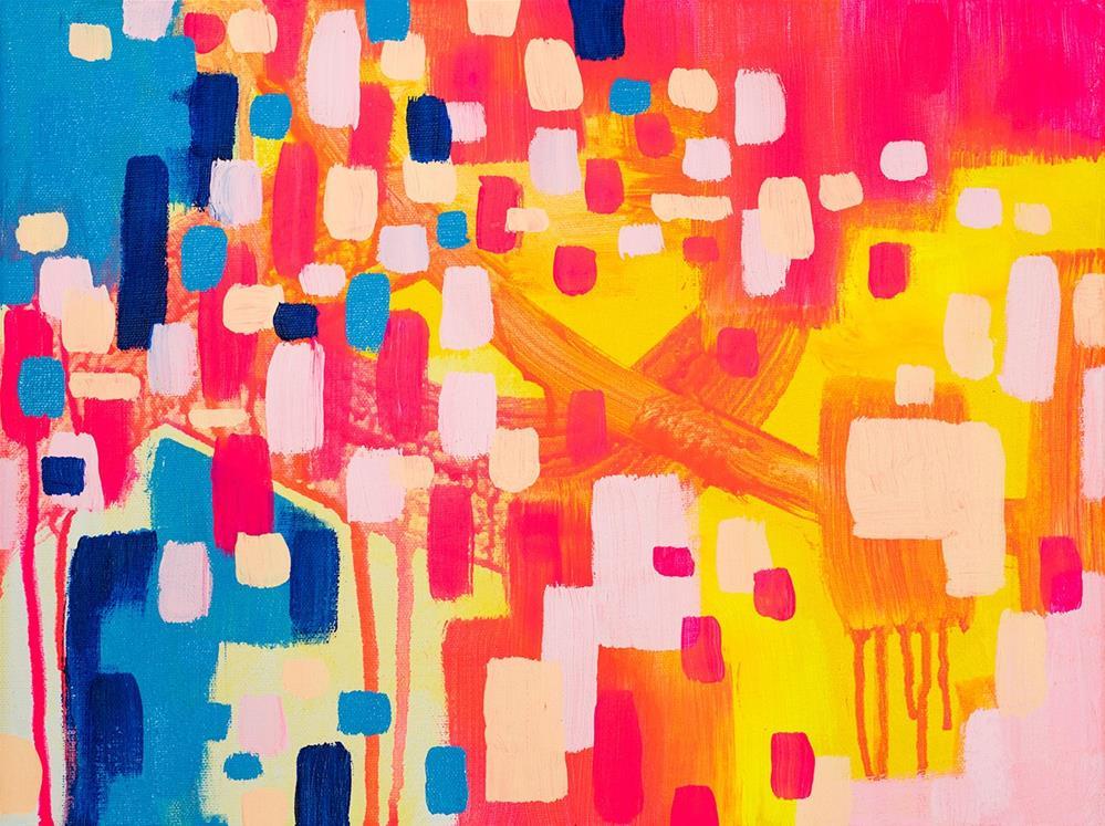 """""""Neon Highway"""" original fine art by Franziska Schwade"""