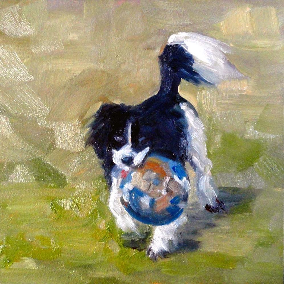 """""""Run, Spot, Run!"""" original fine art by Cietha Wilson"""