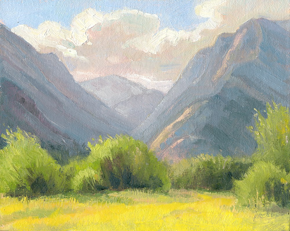 """Mountain Clouds"" original fine art by Kath Reilly"