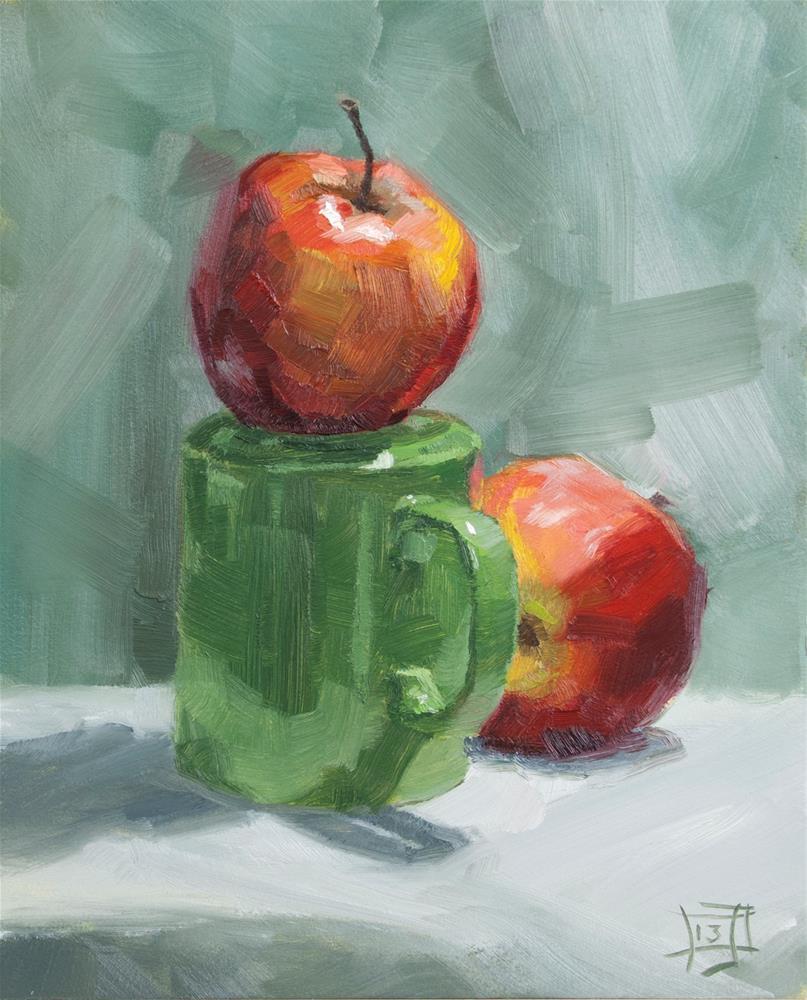 """""""Cupside Down"""" original fine art by Johan Derycke"""