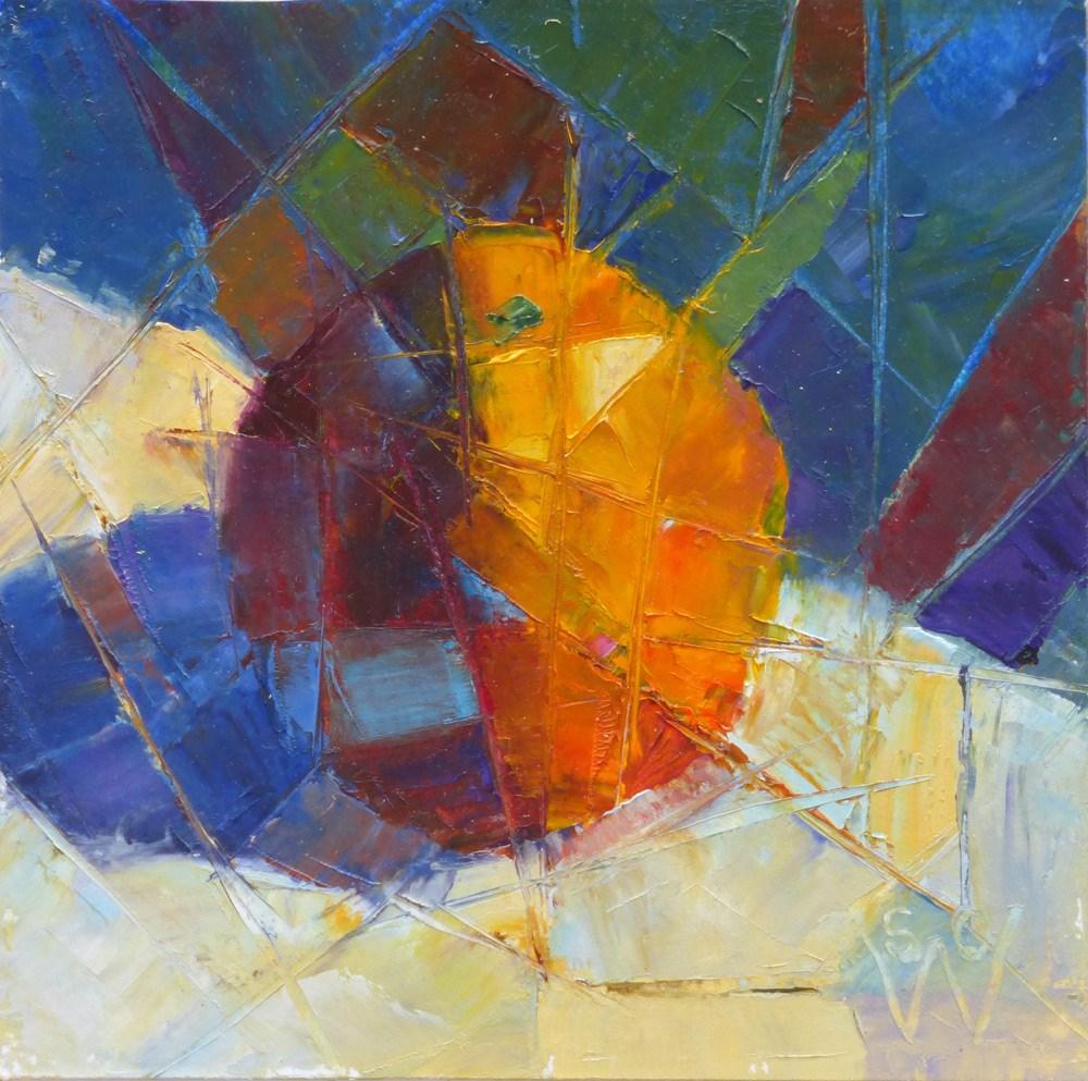 """""""Fractured Orange"""" original fine art by Susan Woodward"""