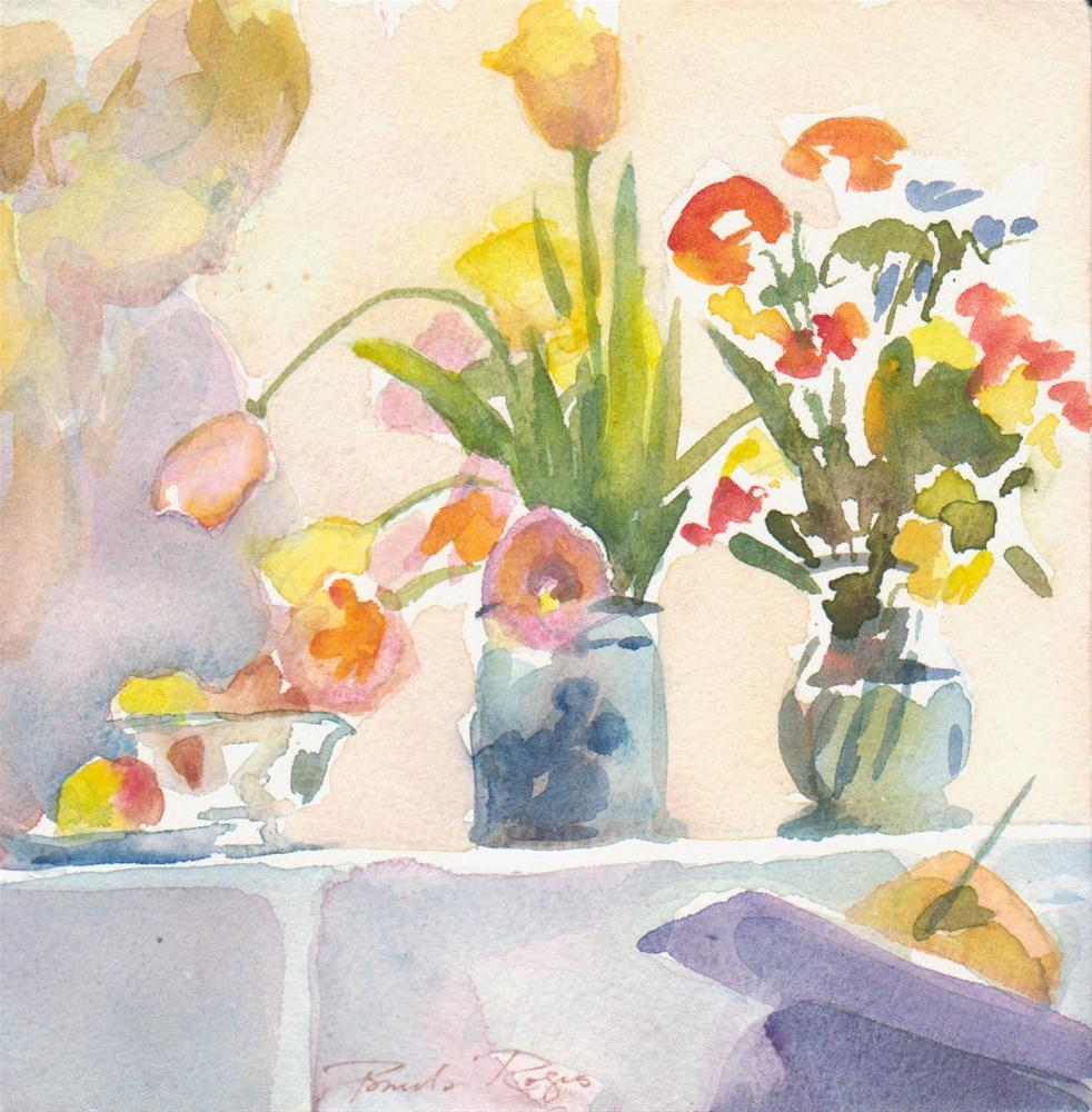 """Composition with Tulips"" original fine art by Pamela Jane Rogers"