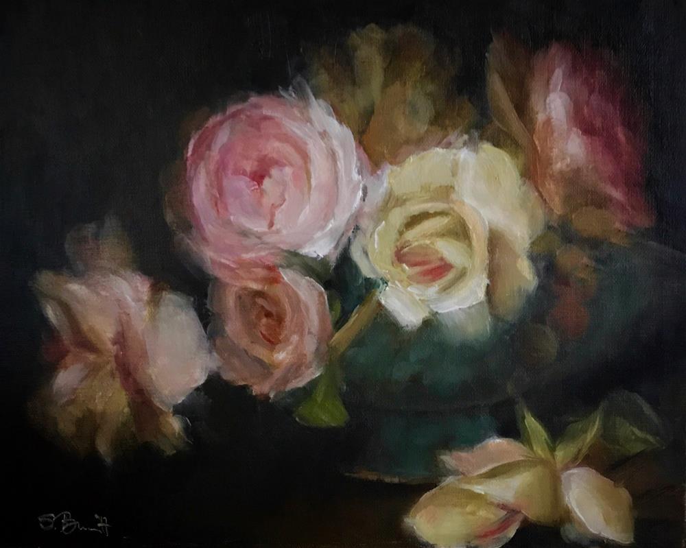 """Rose Basket"" original fine art by Sherri Burritt"