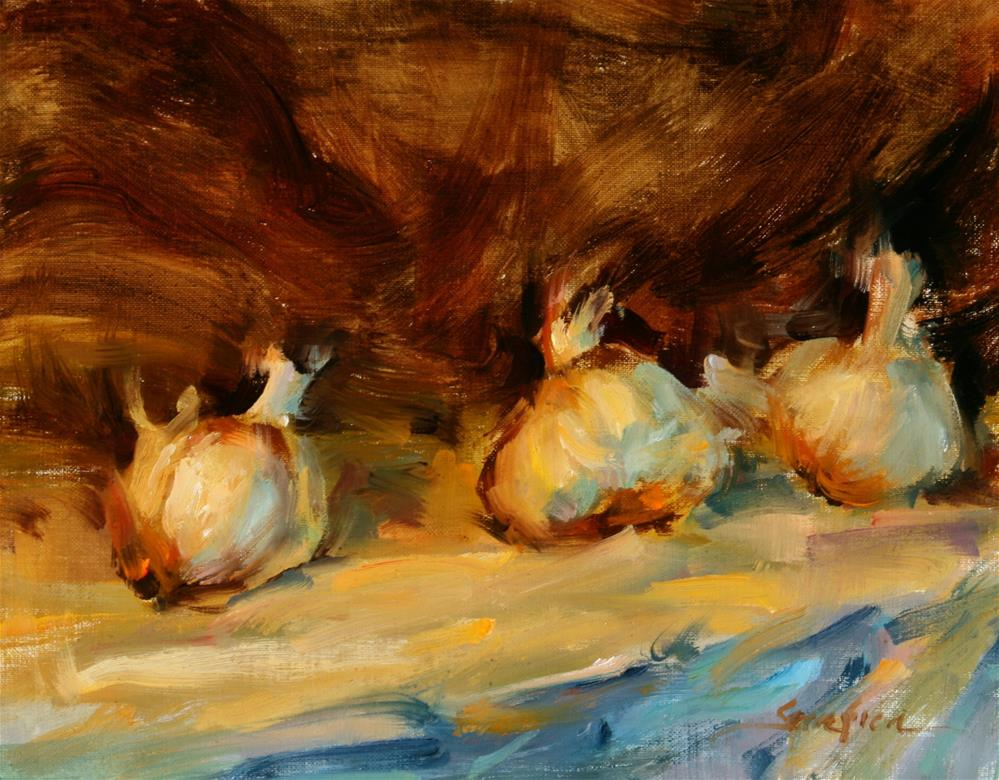"""Lighted Garlic"" original fine art by Scott Serafica"
