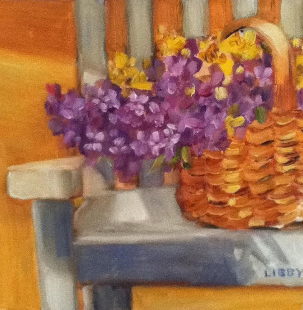 """Basket of Flowers"" original fine art by Libby Anderson"