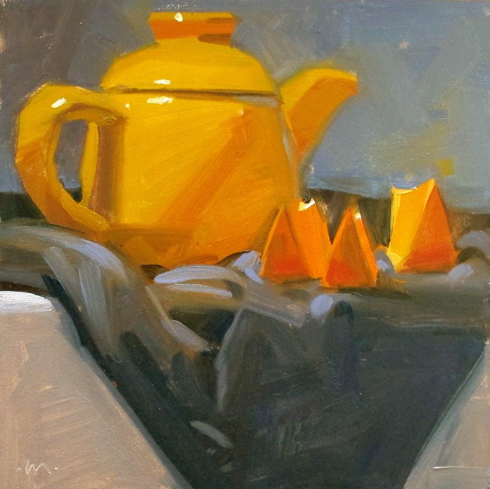 """Orange Tea"" original fine art by Carol Marine"