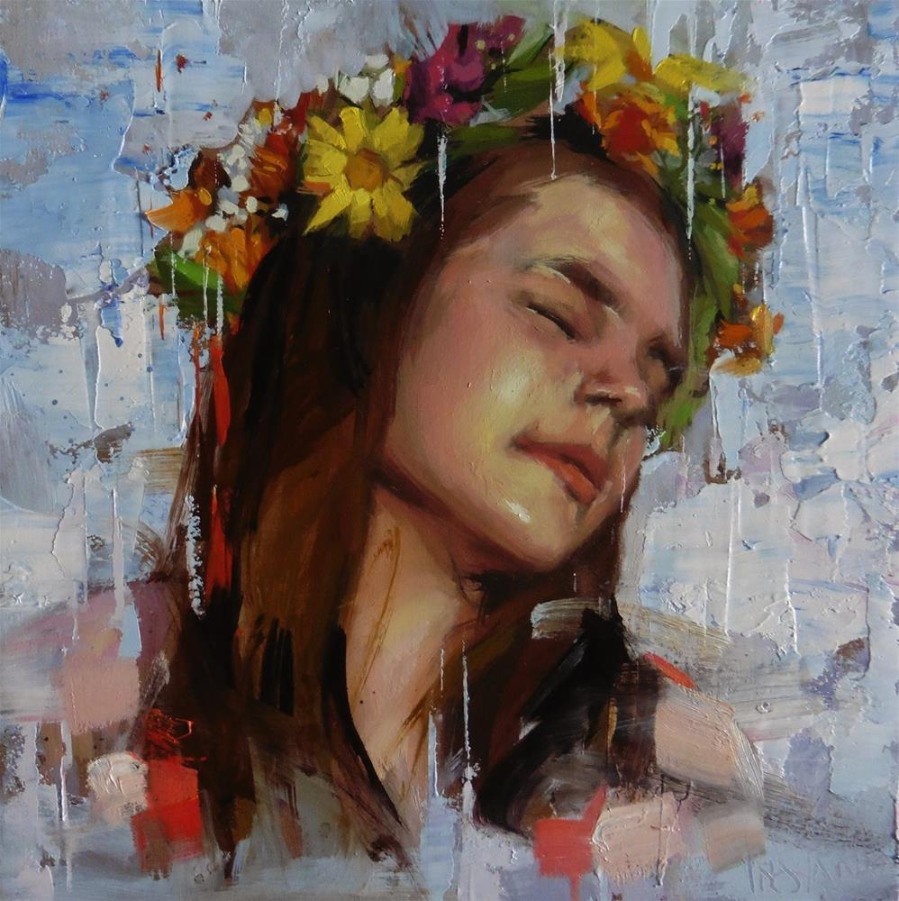 """Carefree"" original fine art by Víctor Tristante"