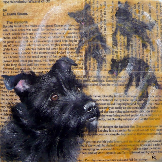 """Toto, Wizard of Oz (Great Dogs of Literature No 3)"" original fine art by Karen Robinson"