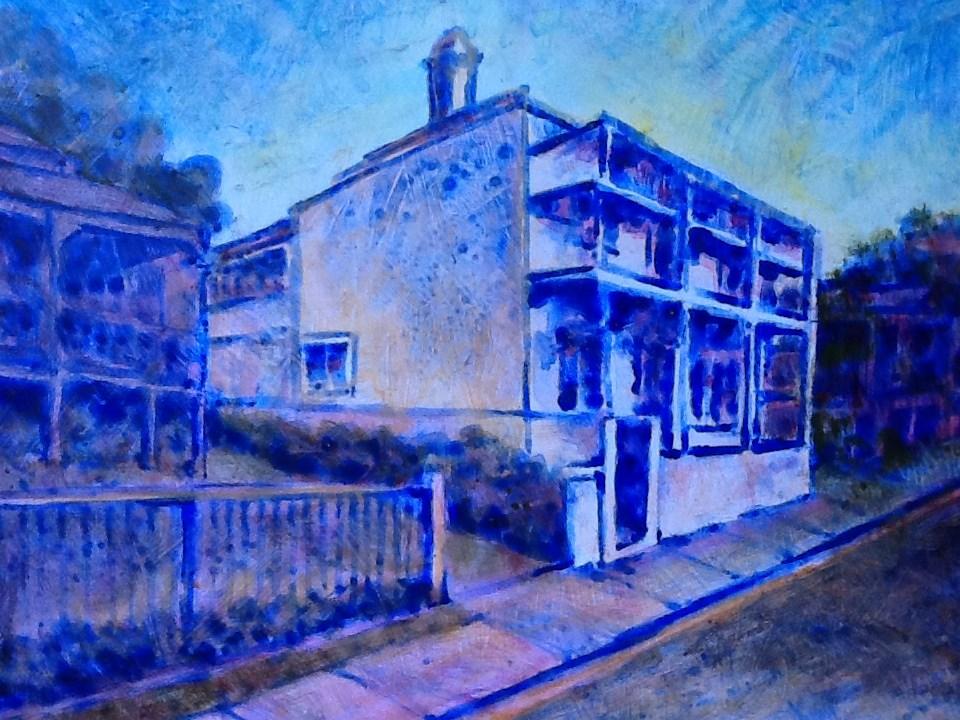 """114 ANNIE STREET 4"" original fine art by Trevor Downes"