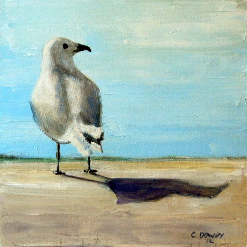 """Seagull"" original fine art by Christina Dowdy"