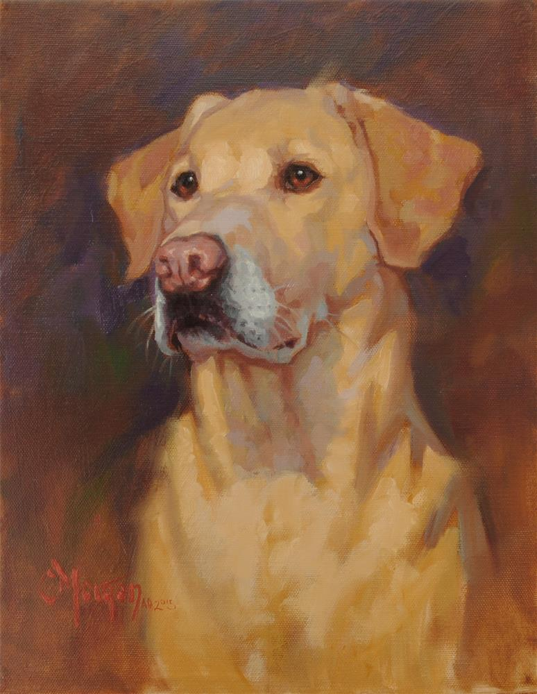 """Buddy"" original fine art by Cecile W. Morgan"