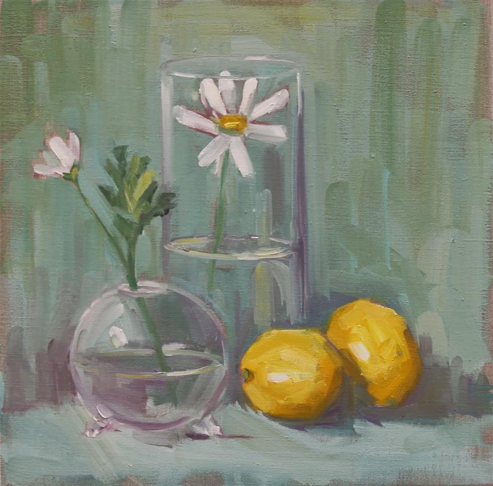 """daisy garden"" original fine art by Carol Carmichael"