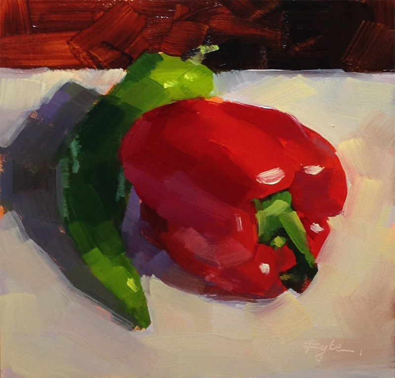 """Peppers"" original fine art by Katia Kyte"