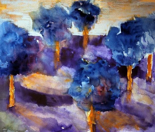 """Golf Course at Dawn"" original fine art by Amy Bryce"