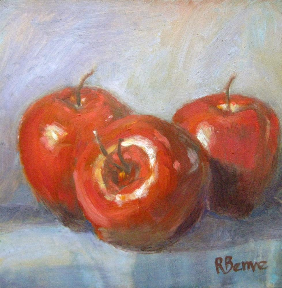 """Three Apples"" original fine art by Robie Benve"