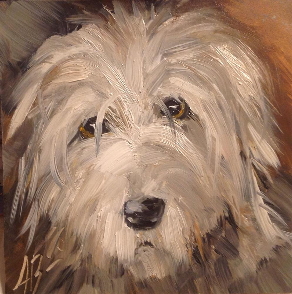 """Hound Dog"" original fine art by Annette Balesteri"
